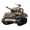 Tank Sherman obusier 105mm M4A3 RC Bille 6mm 1:16e Son et Fumee