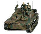Char German Sturmgeschutz III Ausf. G + soldats - Force Of Valor - UNI-80043