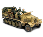 German Sd. Kfz. 7 Half-Track + soldats - Force Of Valor - UNI-80247