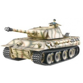 CHAR RC2.4GHZ 1/16 GERMAN PANTHER METAL (BRUIT/FUMEE)